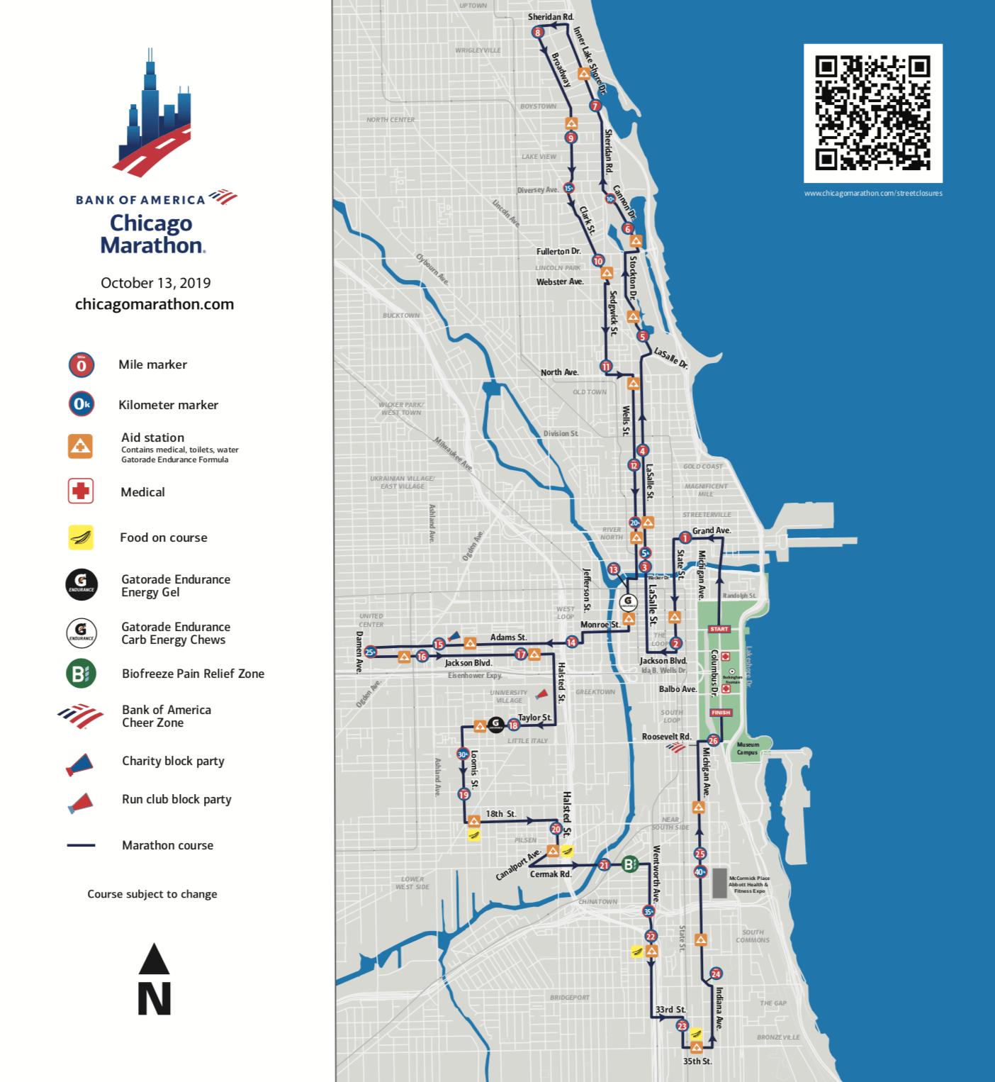 wciu, the u | chicago marathon map and street closures