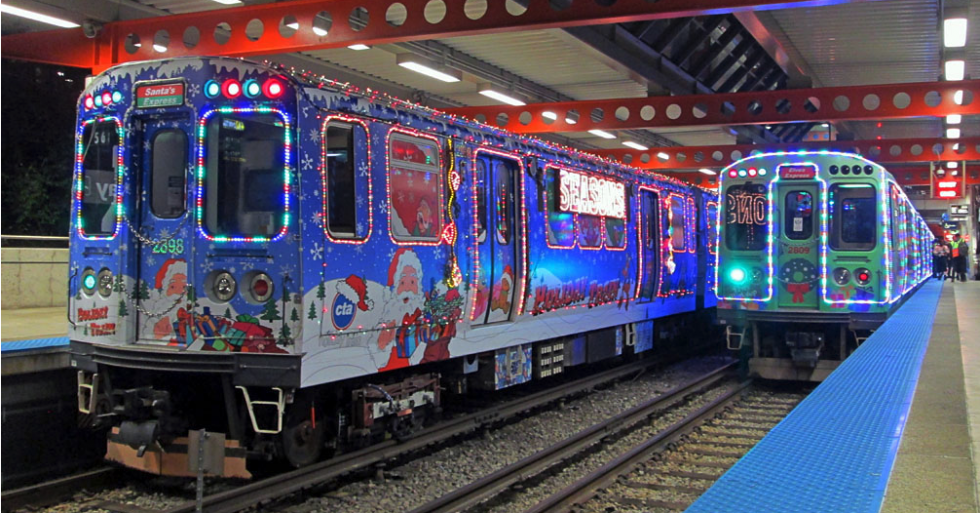 Cta Holiday Train Schedule 2019 WCIU, The U   Your commute just got festive with the CTA Holiday